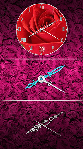Screenshots of the Rose: Analog clock for Android tablet, phone.