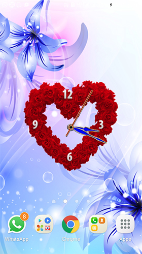 Rose clock by Mobile Masti Zone