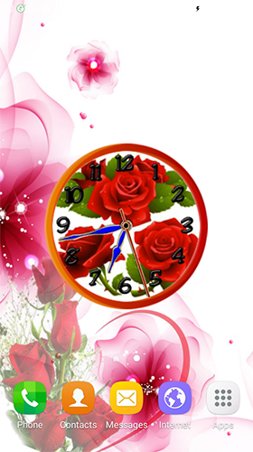 Rose clock by Mobile Masti Zone für Android spielen. Live Wallpaper Rosenuhr kostenloser Download.
