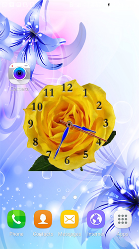 Screenshots von Rose clock by Mobile Masti Zone für Android-Tablet, Smartphone.