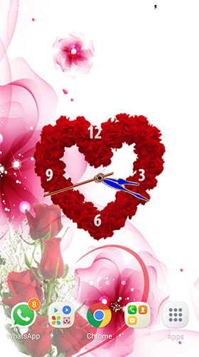 Геймплей Rose clock by Mobile Masti Zone для Android телефона.