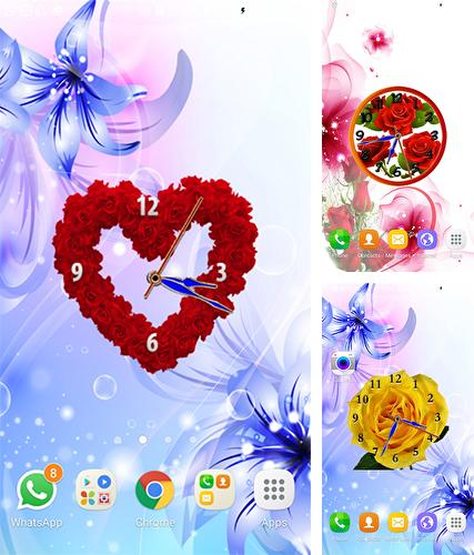 Download live wallpaper Rose clock by Mobile Masti Zone for Android. Get full version of Android apk livewallpaper Rose clock by Mobile Masti Zone for tablet and phone.