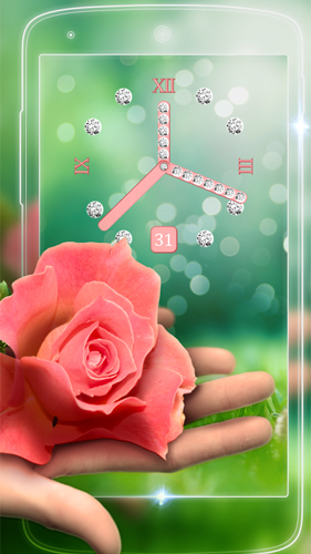 Screenshots of the Rose picture clock by Webelinx Love Story Games for Android tablet, phone.