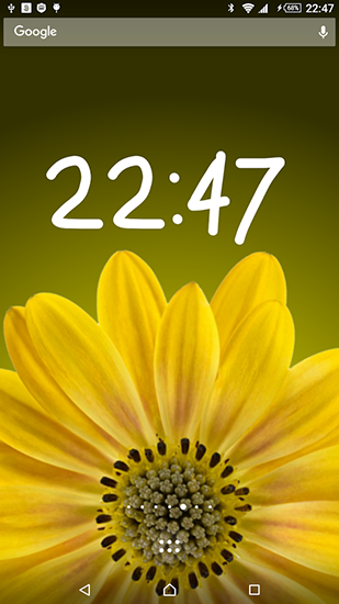 Rotating flower live wallpaper for Android. Rotating ...