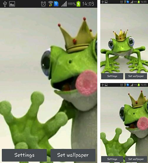 In addition to live wallpaper Curious Cat for Android phones and tablets, you can also download Royal frog for free.