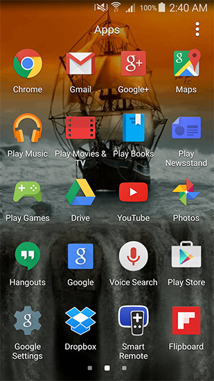 Screenshots of the Sailboat for Android tablet, phone.