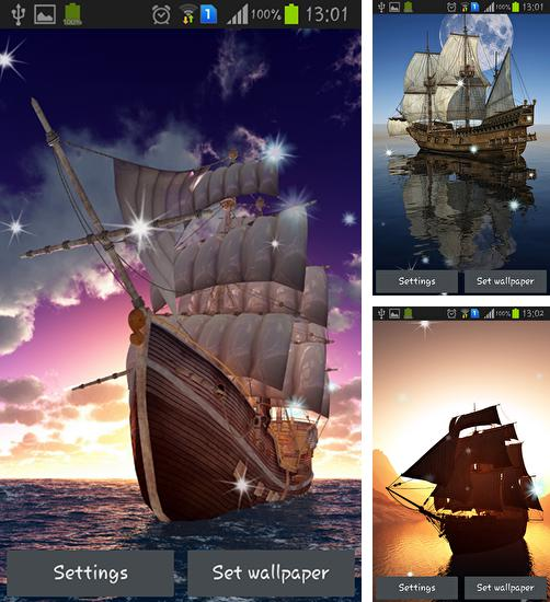 In addition to live wallpaper City rain for Android phones and tablets, you can also download Sailing ship for free.