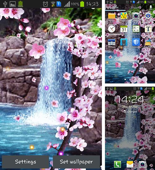 In addition to live wallpaper Fire tornado for Android phones and tablets, you can also download Sakura: Waterfall for free.