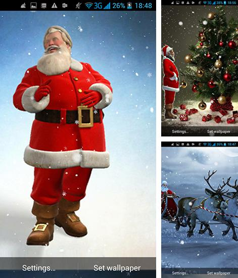 In addition to live wallpaper Fracta for Android phones and tablets, you can also download Santa 3D for free.