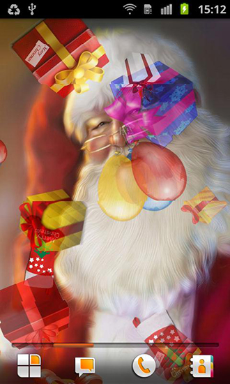 Screenshots of the Santa Claus for Android tablet, phone.