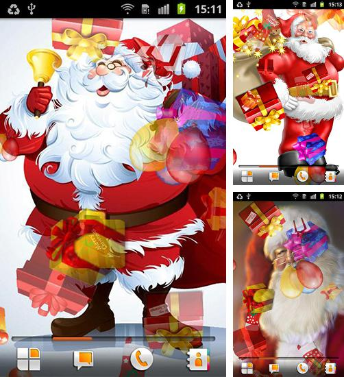 In addition to live wallpaper Fireworks deluxe for Android phones and tablets, you can also download Santa Claus for free.