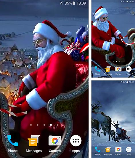 In addition to live wallpaper Flowers by OOMGLIVE for Android phones and tablets, you can also download Santa Claus 3D for free.