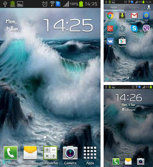 In addition to live wallpaper Sky for Android phones and tablets, you can also download Sea waves for free.