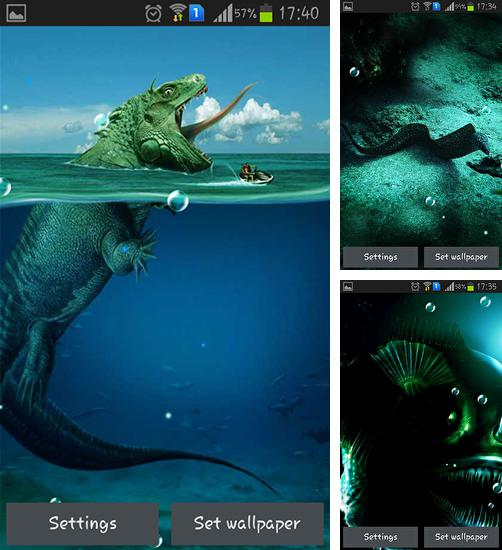 In addition to live wallpaper Glitter for Android phones and tablets, you can also download Seas monsters for free.
