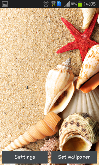 Screenshots of the Seashells for Android tablet, phone.