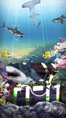 Screenshots of the Shark aquarium for Android tablet, phone.
