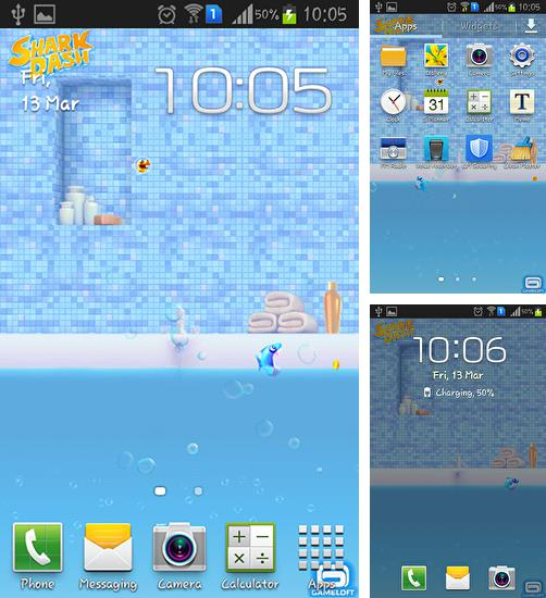 In addition to live wallpaper Raindrops for Android phones and tablets, you can also download Shark dash for free.