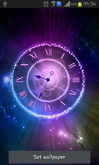 Fondo pantalla animado reloj