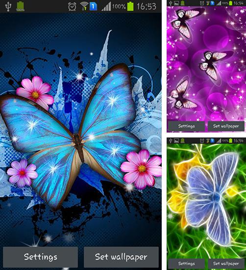 In addition to live wallpaper Cat HD for Android phones and tablets, you can also download Shiny butterfly for free.