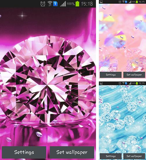 In addition to live wallpaper Tree of love for Android phones and tablets, you can also download Shiny diamonds for free.