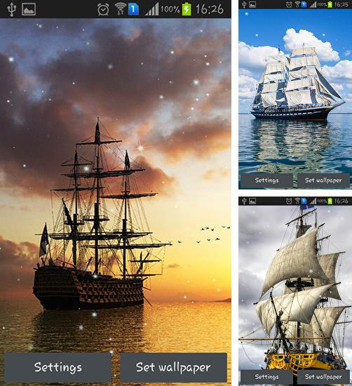 In addition to live wallpaper Jellyfishes for Android phones and tablets, you can also download Ship for free.