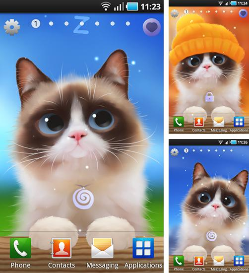 In addition to live wallpaper Diamonds for girls for Android phones and tablets, you can also download Shui kitten for free.