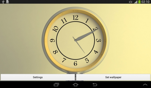 Download Silver clock - livewallpaper for Android. Silver clock apk - free download.