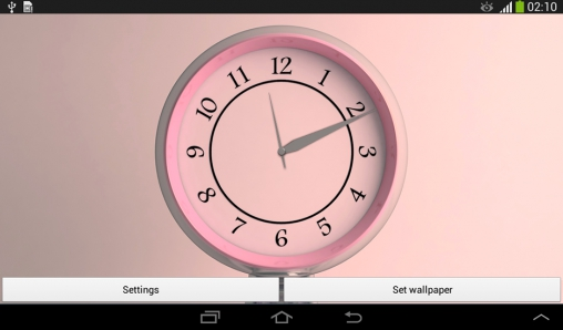 Screenshots of the Silver clock for Android tablet, phone.
