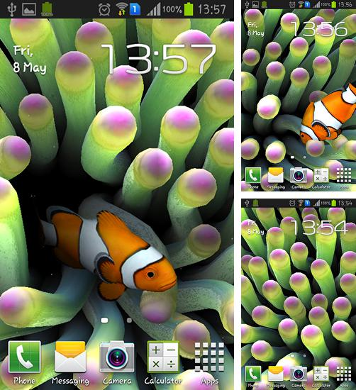 In addition to live wallpaper Snowy night for Android phones and tablets, you can also download Sim aquarium for free.