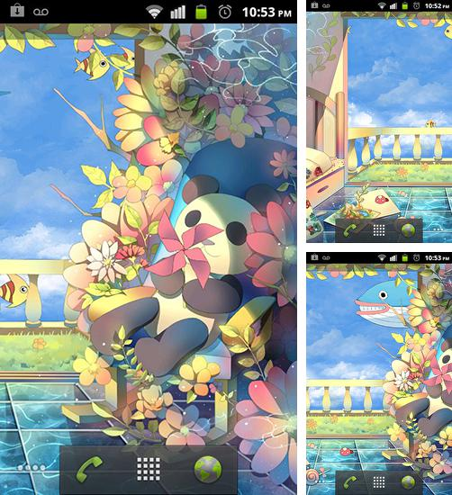 In addition to live wallpaper Glitter for Android phones and tablets, you can also download Sky garden for free.