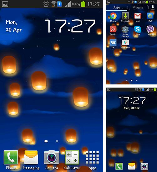 In addition to live wallpaper Halloween by Amax lwps for Android phones and tablets, you can also download Sky lanterns for free.