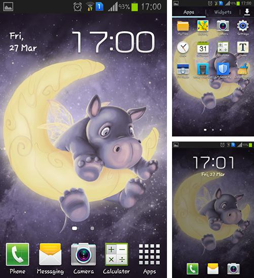 In addition to live wallpaper Spring flowers: Rain for Android phones and tablets, you can also download Sleepy hippo for free.