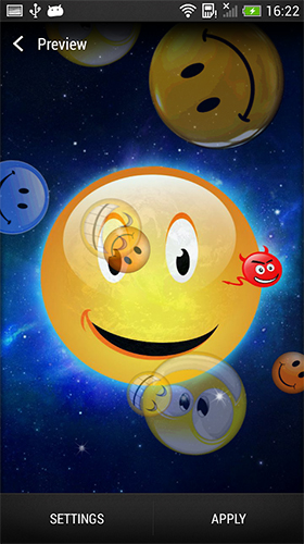 Screenshots of the Smiley for Android tablet, phone.
