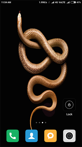Snake HD live wallpaper for Android
