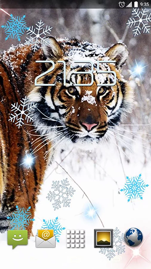 Download livewallpaper Snow tiger for Android. Get full version of Android apk livewallpaper Snow tiger for tablet and phone.