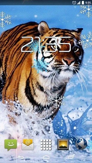 Download Snow tiger - livewallpaper for Android. Snow tiger apk - free download.