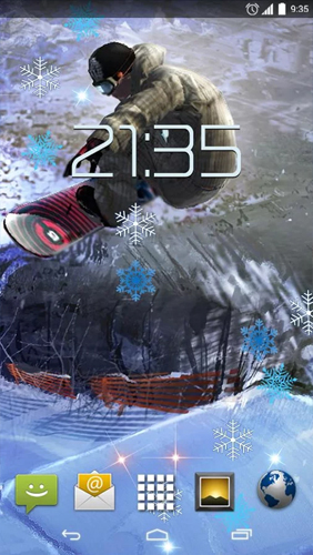 Screenshots of the Snowboarding for Android tablet, phone.