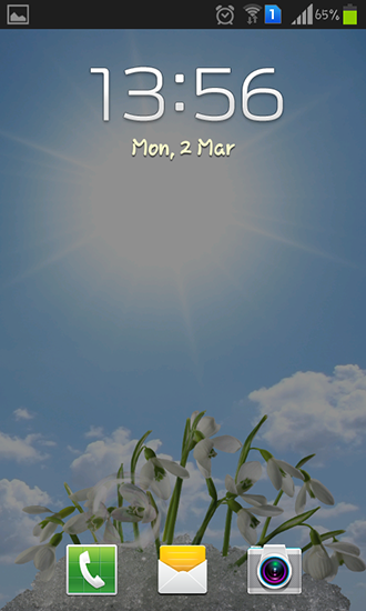 Screenshots of the Snowdrops for Android tablet, phone.