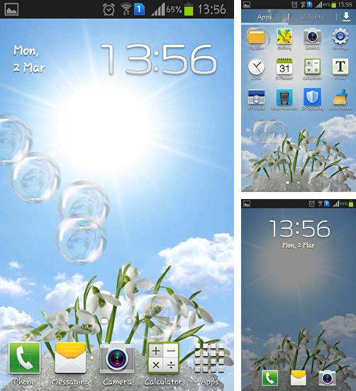 In addition to live wallpaper My name 2 for Android phones and tablets, you can also download Snowdrops for free.