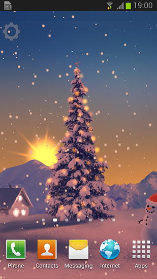Screenshots of the Snowfall 2015 for Android tablet, phone.
