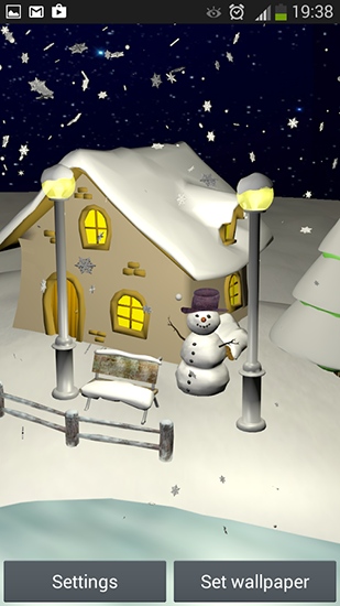 Screenshots of the Snowfall 3D for Android tablet, phone.