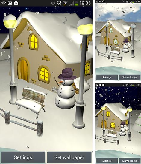 In addition to live wallpaper Fox for Android phones and tablets, you can also download Snowfall 3D for free.