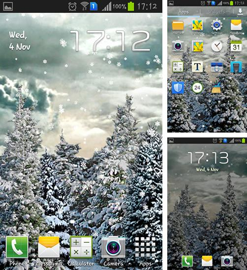 In addition to live wallpaper Spring flowers: Rain for Android phones and tablets, you can also download Snowfall by Kittehface software for free.