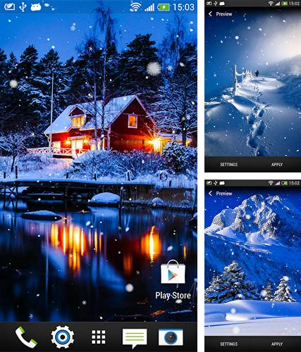 Kostenloses Android-Live Wallpaper Schneefall. Vollversion der Android-apk-App Snowfall by Wallpapers and Backgrounds Live für Tablets und Telefone.