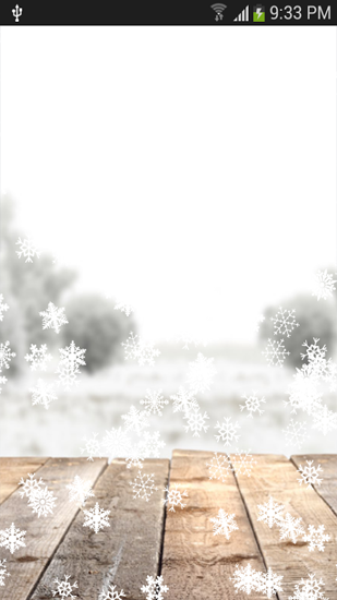 Screenshots of the Snowfall for Android tablet, phone.
