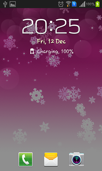 Screenshots of the Snowflake for Android tablet, phone.