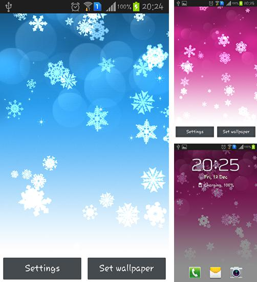 In addition to live wallpaper Pixel rain for Android phones and tablets, you can also download Snowflake for free.