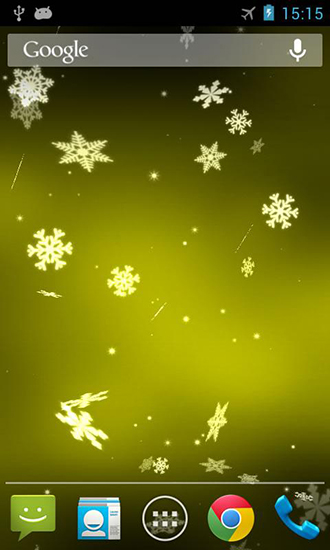 Screenshots of the Snowflake 3D for Android tablet, phone.