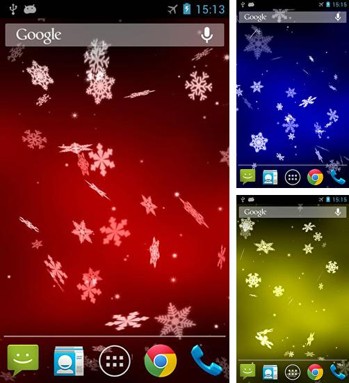In addition to live wallpaper Designer Clock for Android phones and tablets, you can also download Snowflake 3D for free.