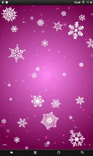 Screenshots of the Snowflakes for Android tablet, phone.
